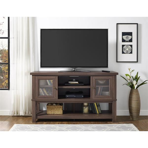 Shop Avenue Greene Dockings Tv Stand With Glass Doors For Tvs Up To