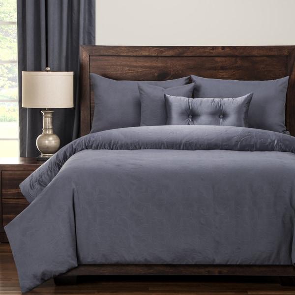 PoloGear Gateway Denim Embossed Luxury Duvet Cover and Comforter Set