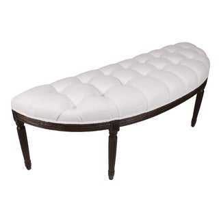 Lafontaine Demilune Bench, Pearl