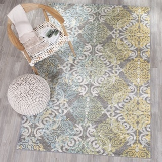 Safavieh Evoke Watercolor Vintage Grey / Ivory Rug (6' 7 Square)