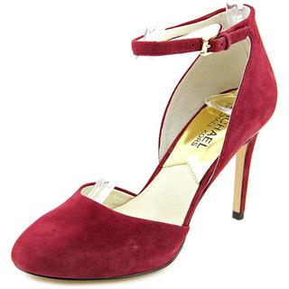 Michael Michael Kors Women's 'Georgia Ankle Strap' Red Leather Dress Shoes
