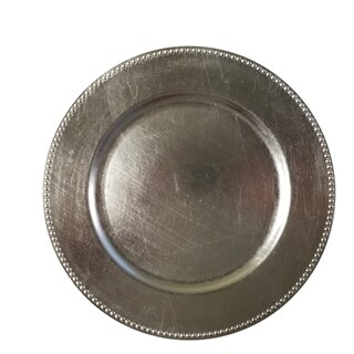 Urban Port Silver Charger Plate (Set of 24)