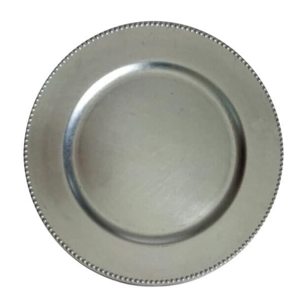 Urban Port Silver Charger Plate Set Of 24 Free