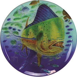 Rivers Edge Guy Harvey Glass 15-inch Dorado Platter