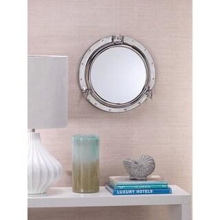 Porthole Polished Nickel Mirror