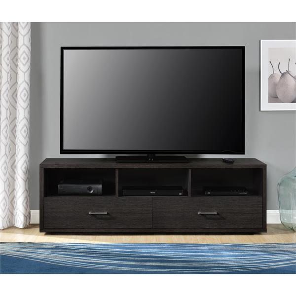 shop ameriwood home clark cherry espresso tv stand for tvs. Black Bedroom Furniture Sets. Home Design Ideas