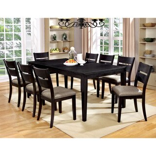 Furniture of America Heathridge Dark Grey Dining Table with 18-inch Butterfly Leaf