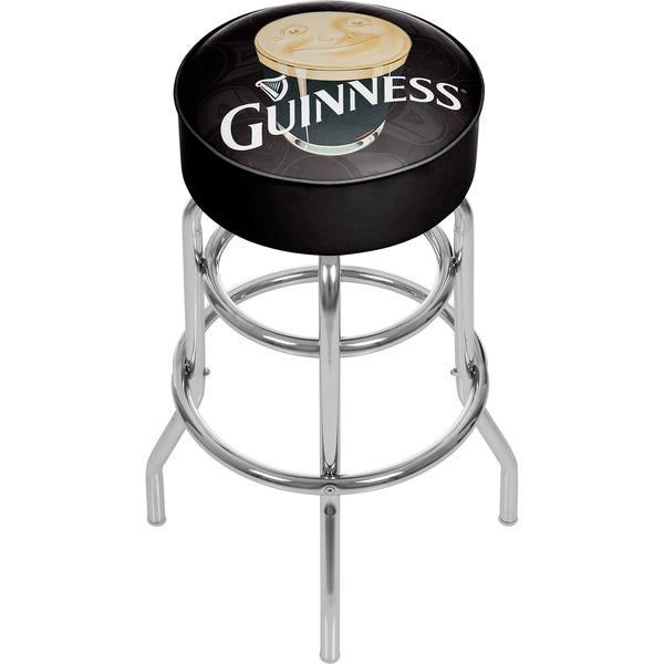 Guinness Padded Swivel Bar Stool