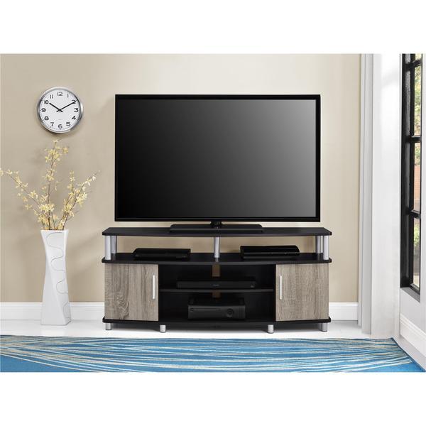 Ameriwood Home Carson 50 Inch Espresso/ Sonoma Oak TV Stand