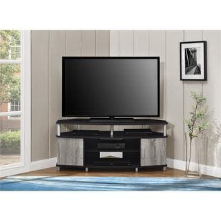 ameriwood home carson espressoweathered oak corner tv stand for tvs up to 50 inches - Tv Stands Corner