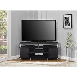 Ameriwood Home Carson 50-inch Black Corner TV Stand