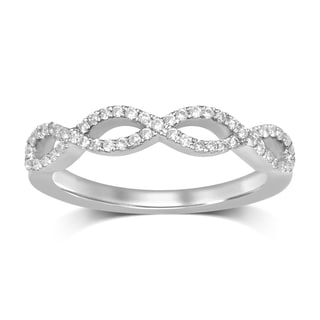 Unending Love 14k White Gold 1/5ct TDW Diamond Vintage Twisted Fashion Ring (H-I, I1-I2)