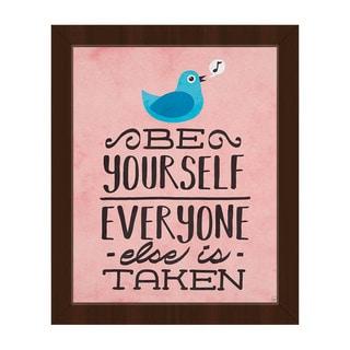 Be Yourself Bird Framed Canvas Wall Art