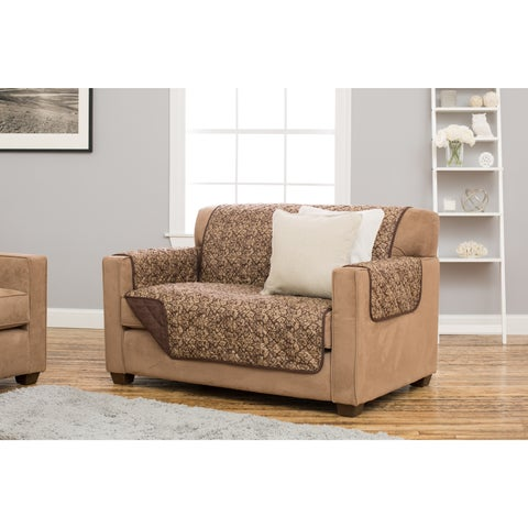 Home Fashion Designs Katrina Collection Deluxe Stain Resistant Loveseat Protector