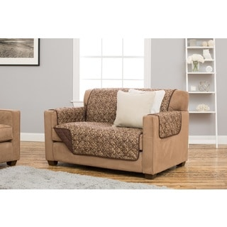 Home Fashion Designs Katrina Collection Polyester Deluxe Reversible Stain-resistant Loveseat Protector