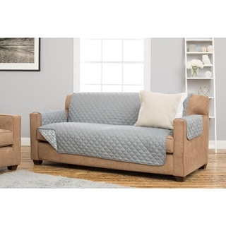 Home Fashion Designs Katrina Collection Grey/Green/Brown Reversible Stain-resistant Sofa P