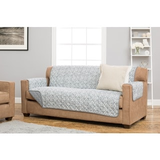 Home Fashion Designs Katrina Collection Grey/Green/Brown Polyester Reversible Stain-resistant Sofa Protector