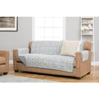 Katrina Collection Damask Print Reversible Stain-resistant Sofa Protector
