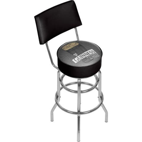 Guinness Swivel Bar Stool with Back