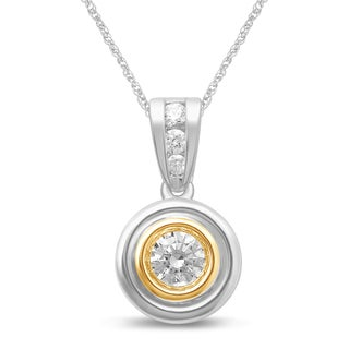Unending Love 14k Two-Tone Gold 1/3ct TDW Diamond Pendant Necklace (I-J, I2-I3)