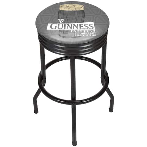 Guinness Black Ribbed Bar Stool