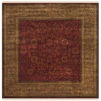 Safavieh Hand-knotted Ganges River Rust / Green Wool Rug - 6' Square