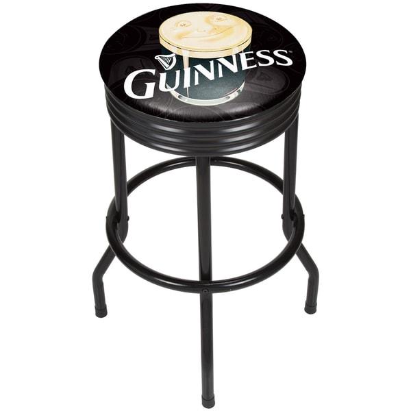 Guinness Black Ribbed Bar Stool