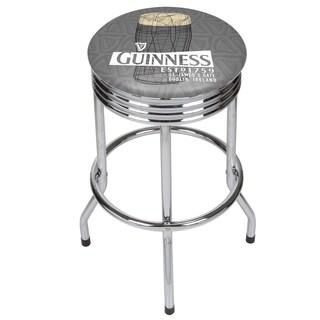 Guinness Chrome Ribbed Bar Stool