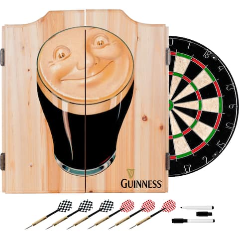 Guinness Dart Cabinet Set with Darts and Board