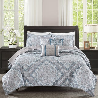 Madison Park Florence Blue 6 Piece Coverlet Set