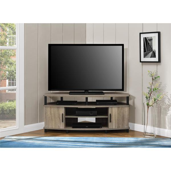 Ameriwood home carson 50 inch sonoma oak corner tv stand
