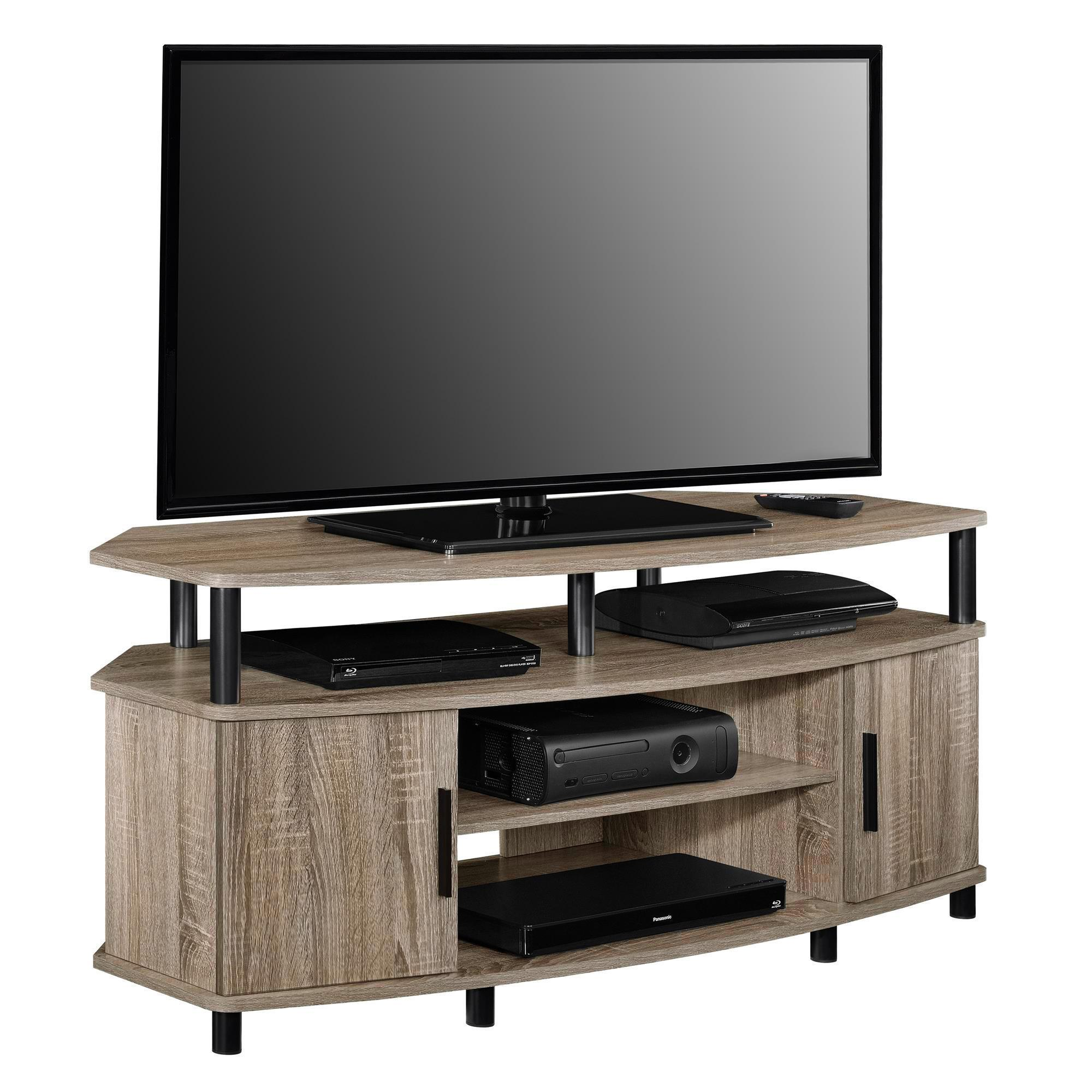 50 wood corner tv stand vintage entertainment media console center furniture ebay. Black Bedroom Furniture Sets. Home Design Ideas