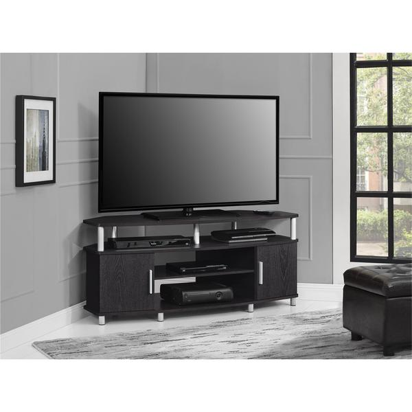 ameriwood home carson 50 inch espresso corner tv stand free shipping today overstock 19442406. Black Bedroom Furniture Sets. Home Design Ideas