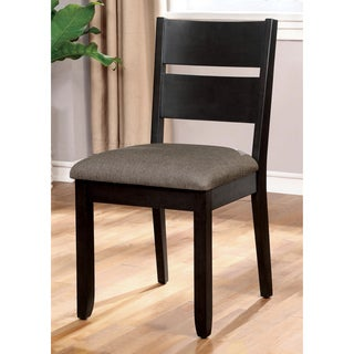 Furniture of America Heathridge Dark Grey Slat Back Dining Chair (Set of 2)
