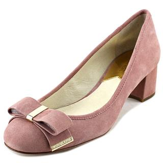 Michael Kors Women's Kiera Mid Pump Pink Suede Dress Shoes