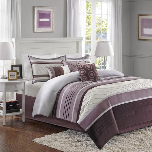 Madison Park Anderson Purple 7 Piece Comforter Set