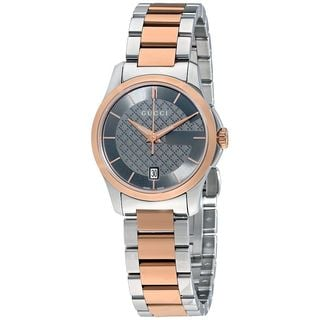 Gucci Women's YA126527 'G-Timeless' Two-Tone Stainless Steel Watch