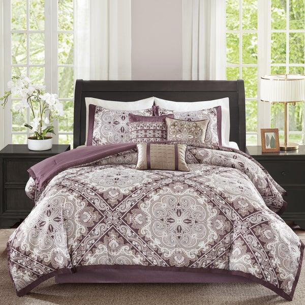 Madison Park Florence Burgundy 7 Piece Comforter Set