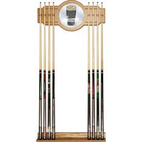 Guinness Stained Wood Cue Rack with Mirror