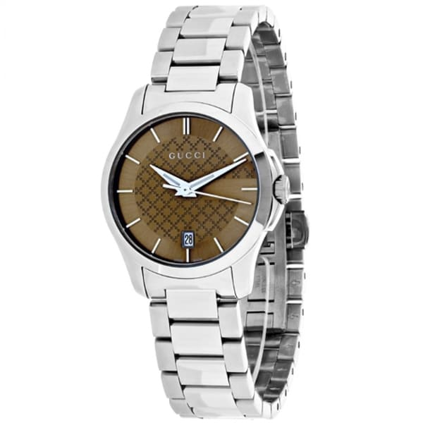 08766ba042a Shop Gucci Women s YA126526  G-Timeless  Stainless Steel Watch - Free  Shipping Today - Overstock - 12653752
