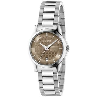 Gucci Women's YA126526 'G-Timeless' Stainless Steel Watch