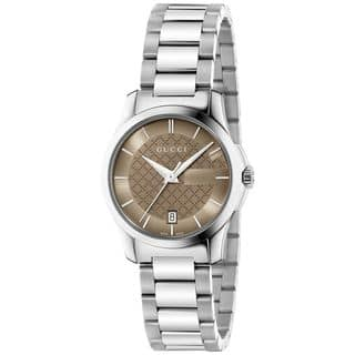 Gucci Women's YA126526 'G-Timeless' Stainless Steel Watch|https://ak1.ostkcdn.com/images/products/12653752/P19442417.jpg?impolicy=medium