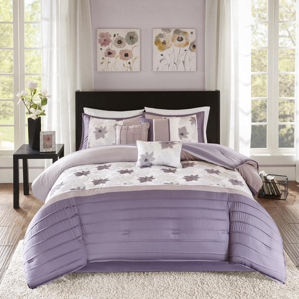 Madison Park Cindy Purple 7 Piece Comforter Set