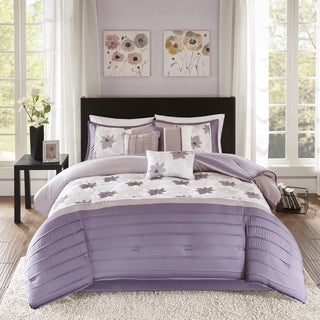 Madison Park Cindy Purple 7 Piece Comforter Set