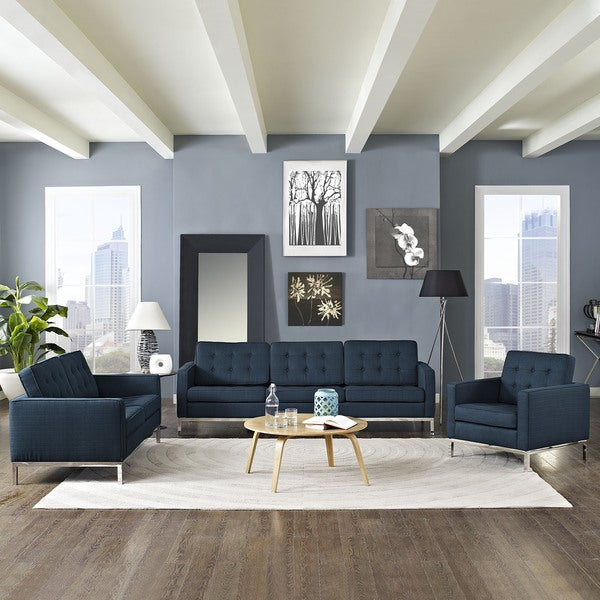 loft modern fabric living room sofa set free shipping 78655