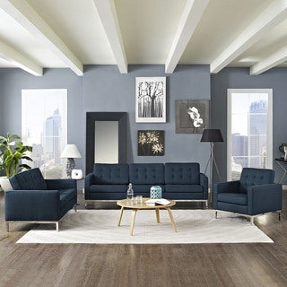 Loft Modern Fabric Living Room Sofa Set
