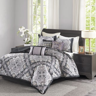 Madison Park Florence Black 7 Piece Comforter Set