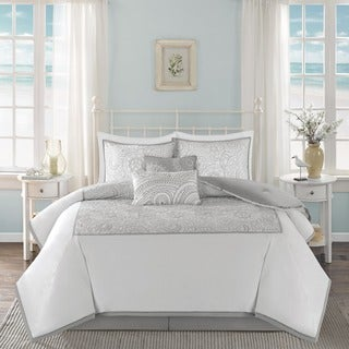 Harbor House Cranston White Cotton Comforter Set
