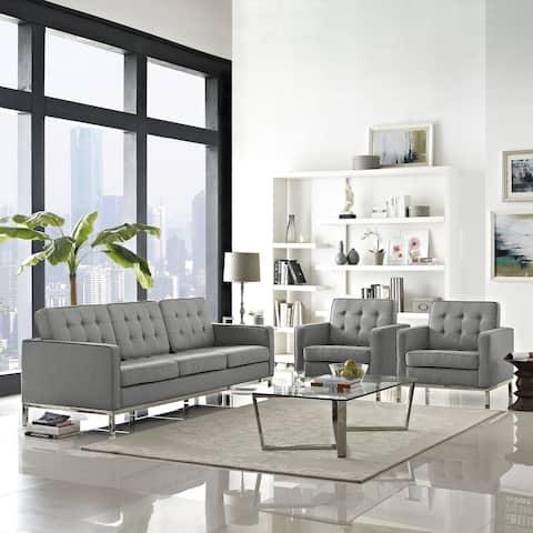 Loft Living Room Set Fabric Set of 3
