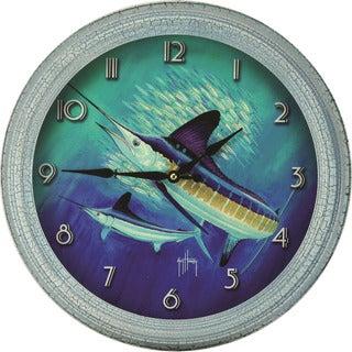 Rivers Edge Guy Harvey Tin 25-inch XL Marlin Clock